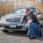 Me in front of my new Infiniti G37
