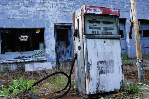 Old Texas Red Gas Pump by Vanessa H